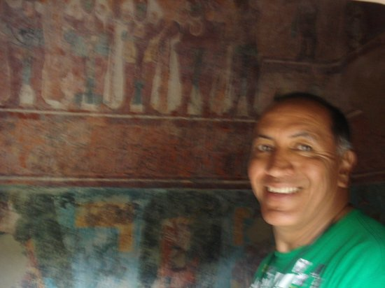 Hotel Ciudad Real Centro Historico : I could not believed to be in Bonampak Murals..