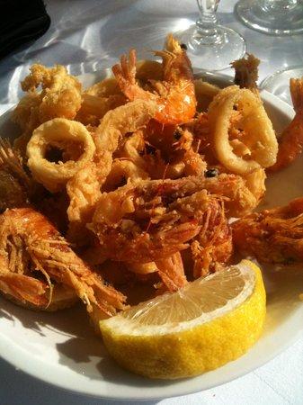 Il Veliero: fritto calamari e gamberi
