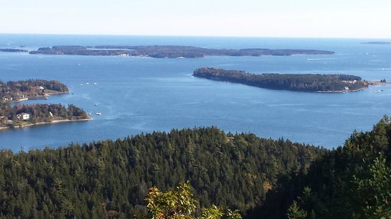 Stone Throw Cottage: View from St. Saveur summit
