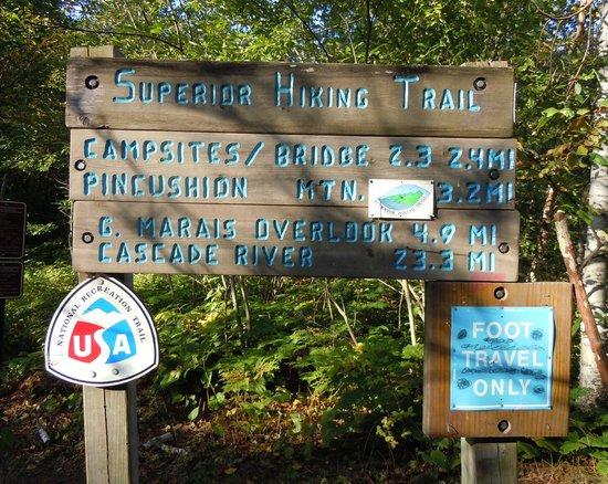 Pincushion Mountain Trail System : Trailhead sign