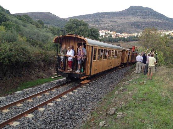 "Hotel Palazzo Sa Pischedda Bosa: One of Sardinia's ""Trenino Verde"" tourist trains."