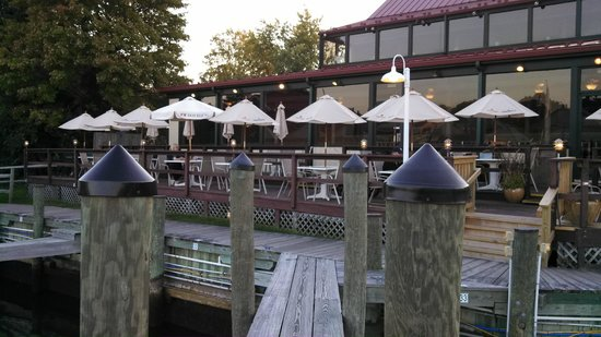 Town Dock Restaurant : View from dock of outside dining.