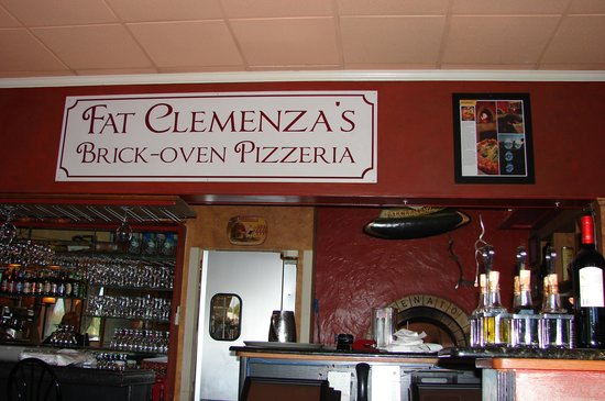 Fat Clemenza's: Interior is dark and cozy.