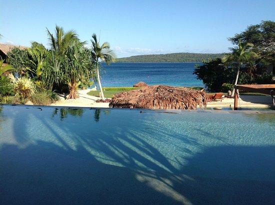 The Havannah, Vanuatu: View from our Pool Lagoon villa