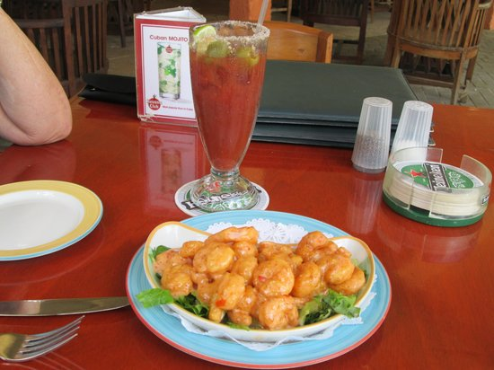 The Greenhouse: Bang Bang Shrimp & Bloody Mary.