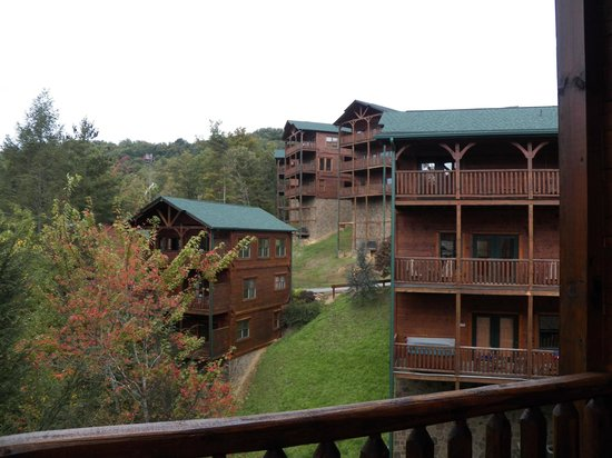 View from the deck picture of gatlinburg falls resort - Gatlinburg falls resort swimming pool ...