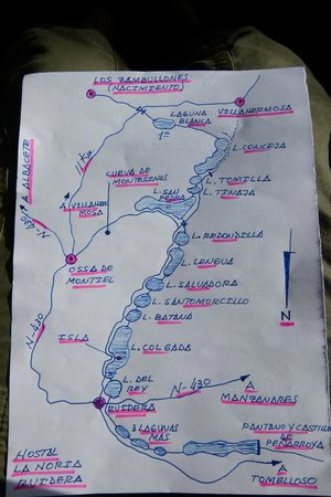Hostal La Noria: Map of the park we received from the receptionist