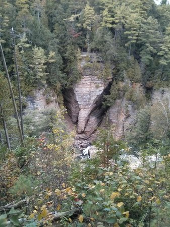 Ausable Chasm: Elephant Rock, can you see it?