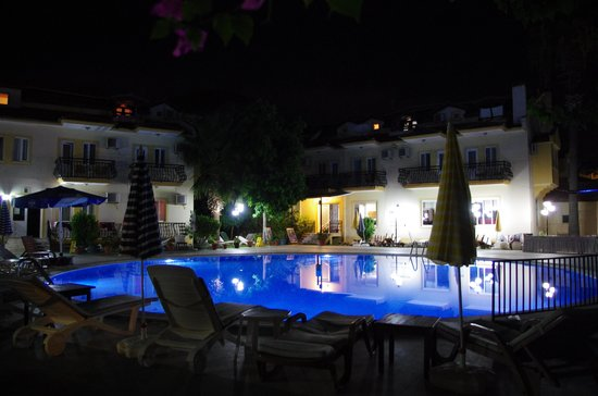 The Metin Hotel pool at night (JulieJon18) Sept 2013