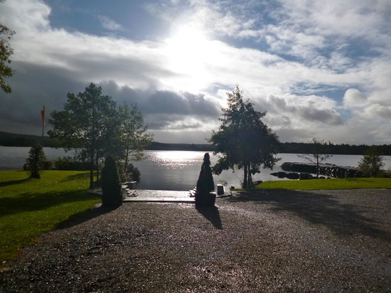 Harvey's Point : Lough view from just in front of the dining room