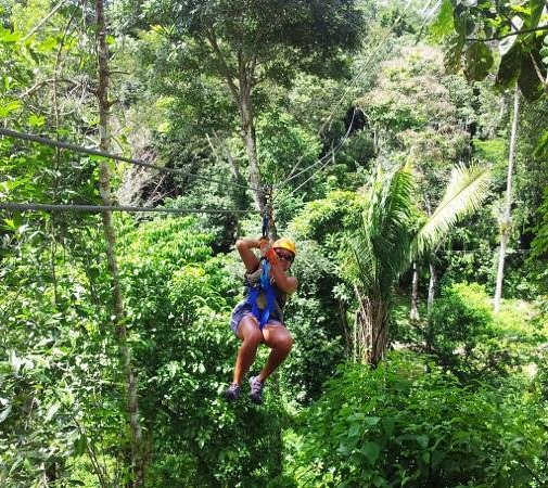 Colinda Cabanas : Zip lining in the jungle!