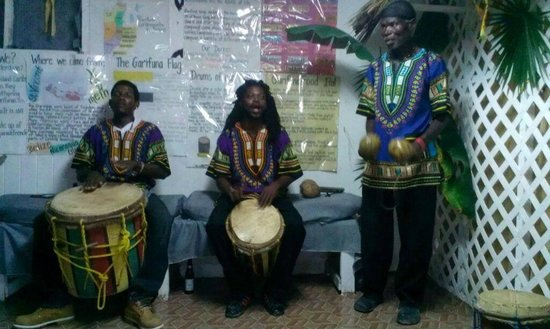 Black & White Cultural Entertainment Center: Drummers for the evening