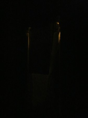 Fleming Bed & Breakfast : This is my door at night with two blankets and two towels over it.  Wish I 'd shown uncovered