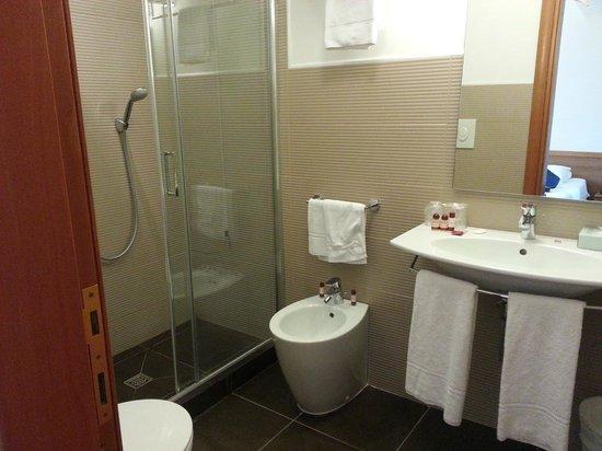 Best Western Globus Hotel: Sink and Shower