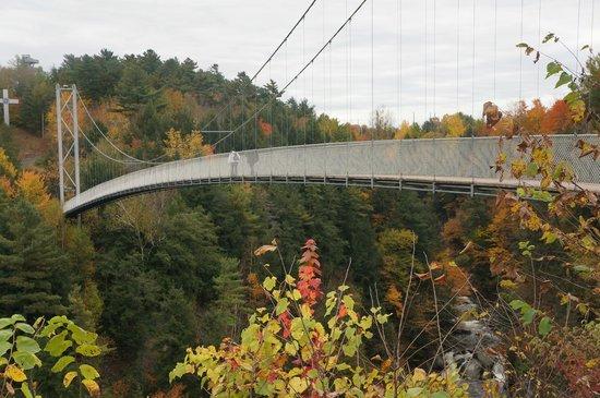 Parc de la Gorge de Coaticook: World's longest Suspended walking bridge - per guiness world records.