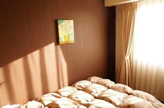 Hotel Route-Inn Shimodate : single room (bed/window)