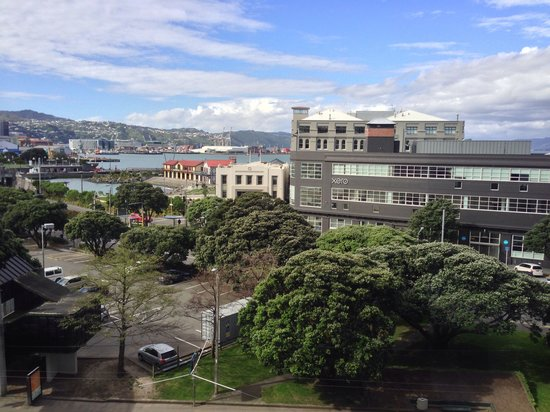 View from my room on the fourth floor of the Amora Hotel Wellington.