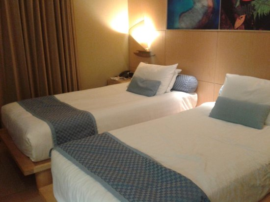 Le Lagon Hotel: twin beds