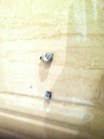 Hotel KLG International : Broken toilet shower bracket