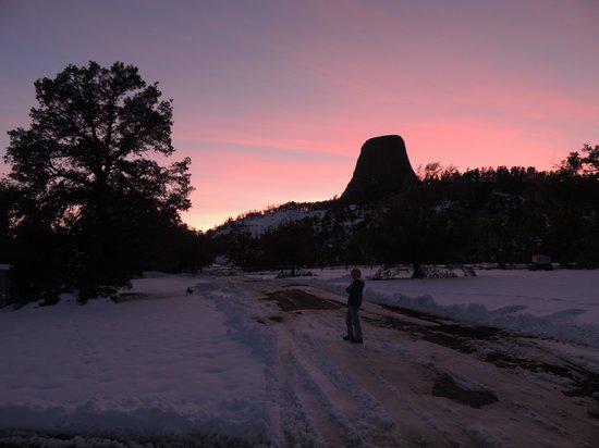 Devils Tower National Monument: Sunset