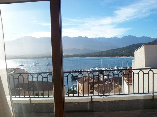 Grand Hotel de Calvi: View from the restaurant/bar