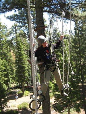 Tahoe Treetop Adventure Park : The treacherous RINGS!!! The toughest challenge.