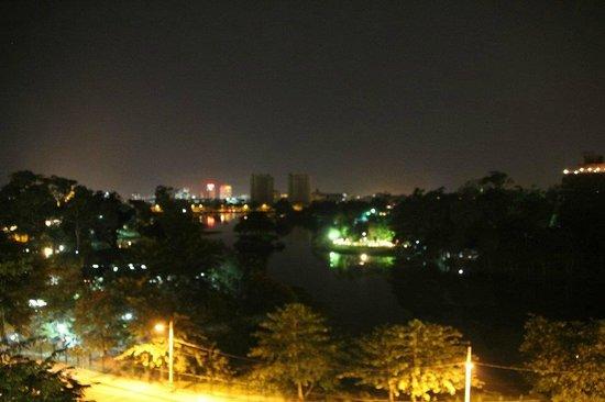 Ariel View Of Bangkok Kitchen At Night.