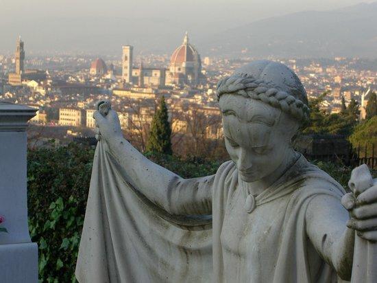 Basilica San Miniato al Monte : View from the cemetery