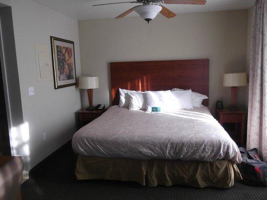 Homewood Suites St. Louis-Riverport : Bedroom area