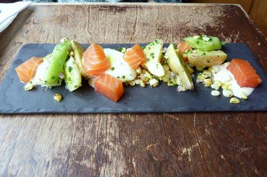 M sur Masson: salmon starter
