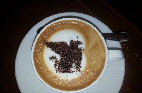 Sailendra Restaurant JW Marriott Jakarta: Sailendra Restaurant Cappuccino with J.W. Marriott Griffin