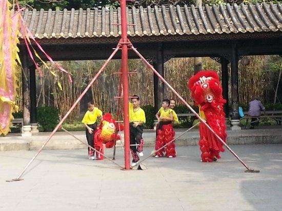 Wong Fei Hung Lion Dance Martial Arts Museum : Lion dance performance