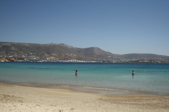 Casa di Roma : View from the beach opposite the town towards the town