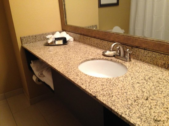 Welk Resort Branson: Nicely appointed tile with nice brush chrome!
