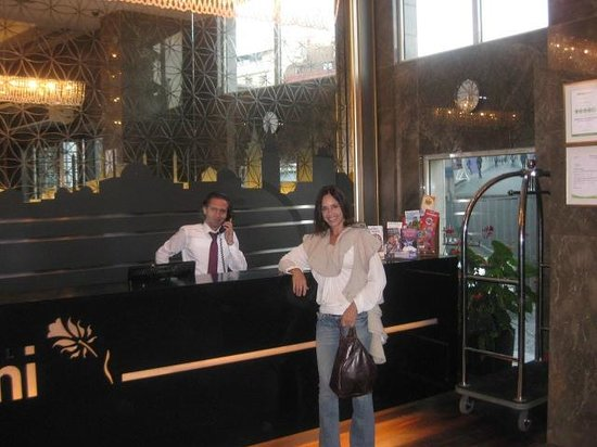 Levni Hotel & Spa : Front desk with Musi. He is a GREAT manager and host!!