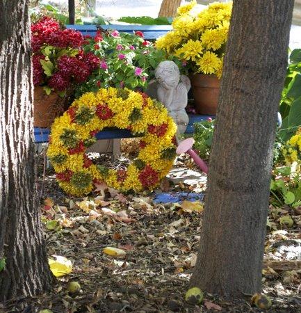 Inn at Aberdeen: Fall wreath and flowers