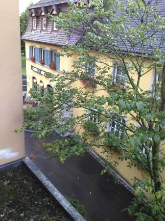 Hotel Rappen Rothenburg ob der Tauber: balcony view