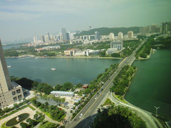 Kempinski Hotel Xiamen: the lake view from the hotel window