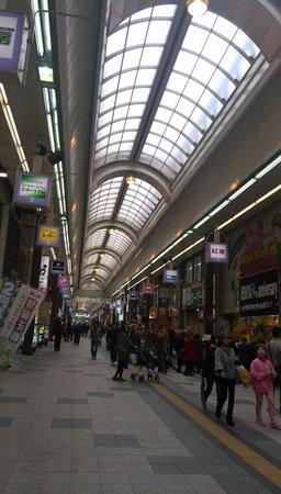 Tanukikoji Shopping Street: 狸小路商店街です
