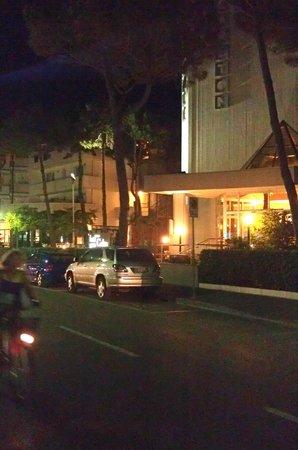 Hotel Meuble Zenith: Pineta вечером