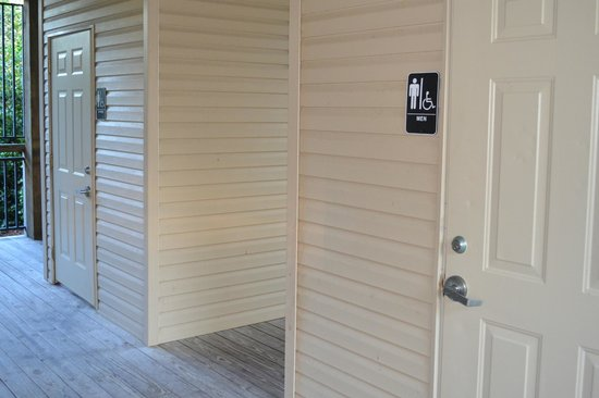 Four Mile Cove Ecological Preserve : Rest rooms in the visitor's  center.