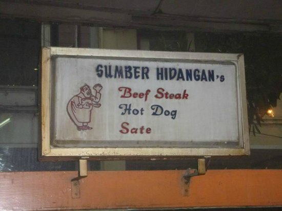 Sumber Hidangan: Look for the sign – it's not very large!