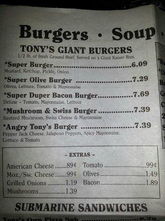 Tony's I-75 Restaurant: burgers