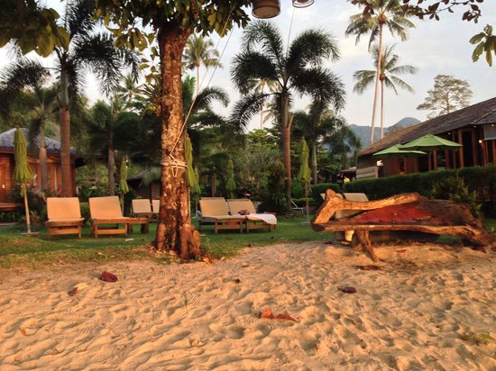 Gajapuri Resort & Spa: View of the Hotel set-up from the private beach-front.