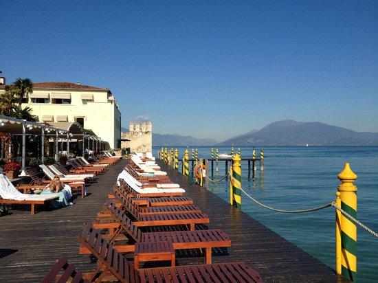 Grand Hotel Terme: Liegeplattform