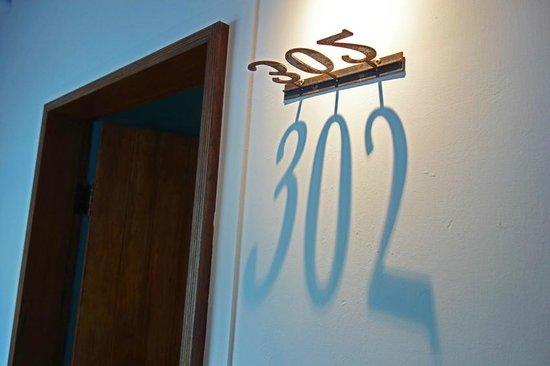 Apple Room Hostel : Room number at Apple Room Hotel - very stylish!