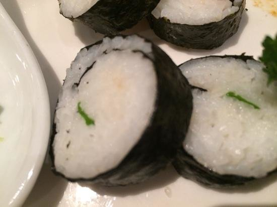 Holiday Inn Suva: vegetable sushi roll without the vegetables