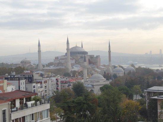 Hali Hotel: Вид с крыши отеля