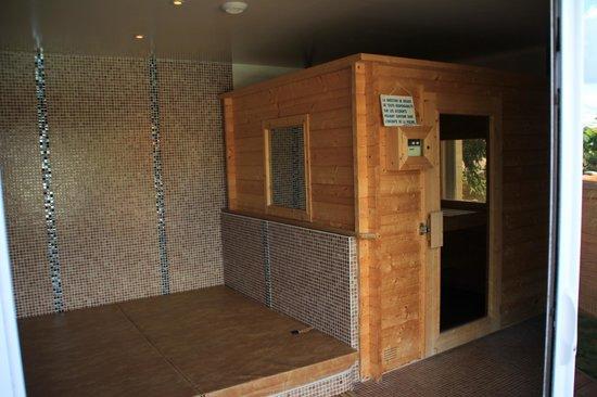 Domaine de Campagnac: Spa et Sauna (+pièce pour se changer avec douche/wc)