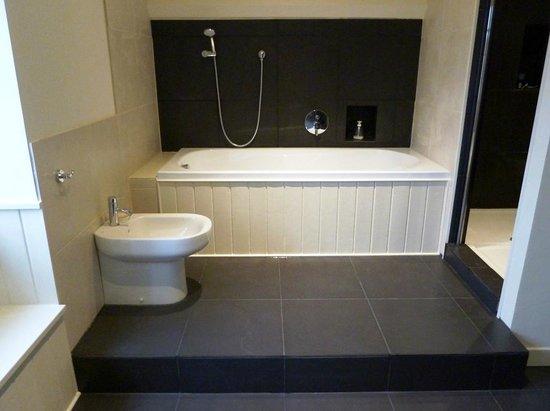 Cézac, France : The bathroom to La Lucarne
